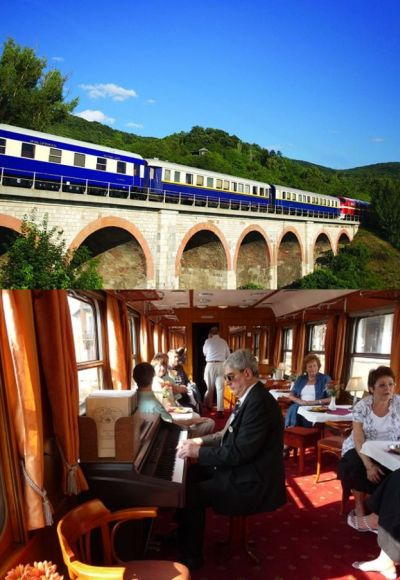 Danube Express (above) and its interior (below)