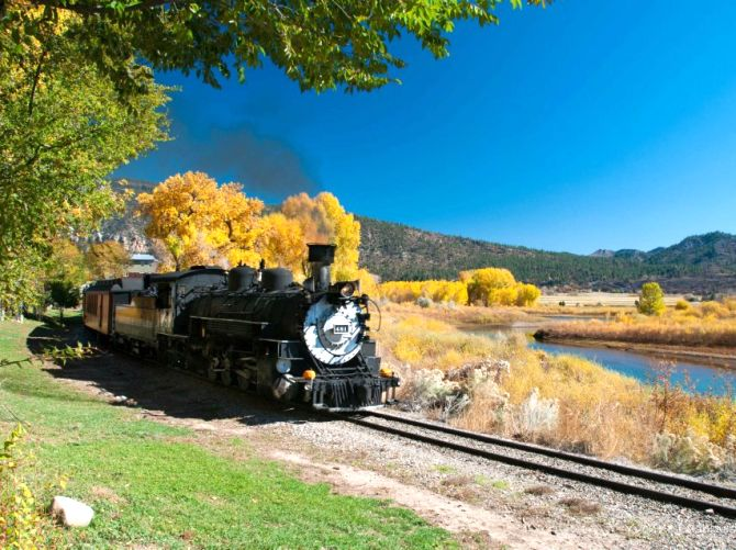 Silverton Appreciation train along the Animas River.