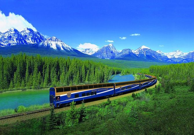 Rocky Mountaineer train.