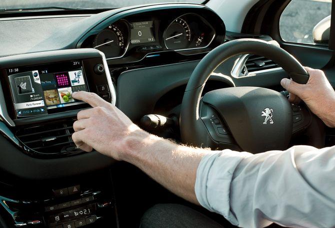 Peugeot 208 interior.