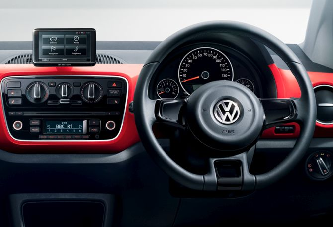 Volkswagen UP! interior.