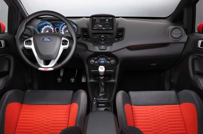 Ford Fiesta hatch interior.
