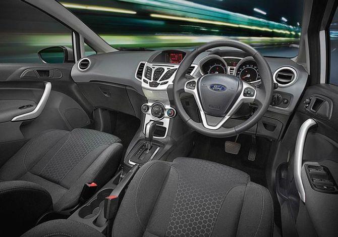 New Ford Fiesta interior.