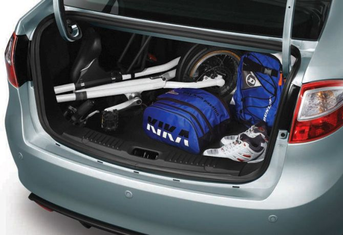 Boot of new Ford Fiesta.