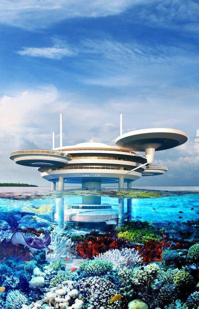 Water Discus hotel.