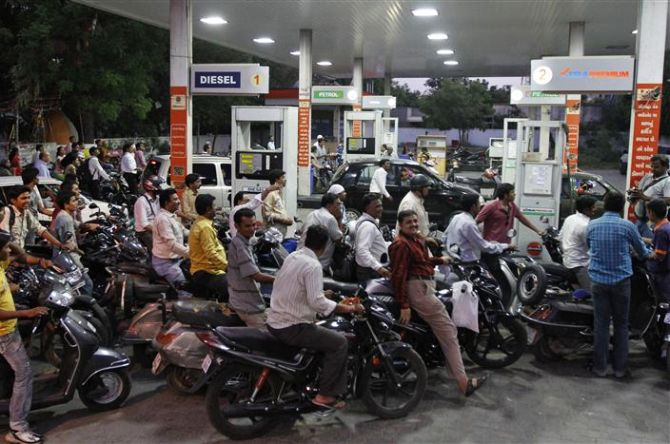 Petrol price cut by 70 paise/litre