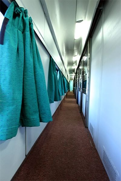 Indian Rwailways' first AC compartment.