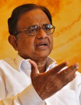 Finance Minister P. Chidambaram