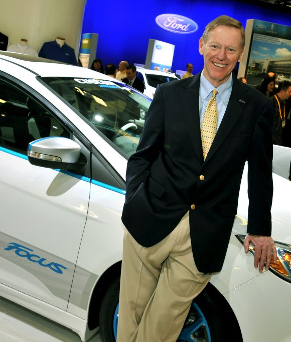 Alan Mulally, Ford Motor Company, President and CEO, visited the Ford display during NADA Convention and Expo.