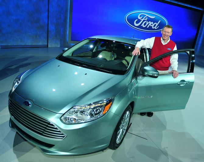 Ford President and CEO Alan Mulally delivers his third consecutive keynote address at the 2011 International CES which included the introduction of the all-new Focus Electric.
