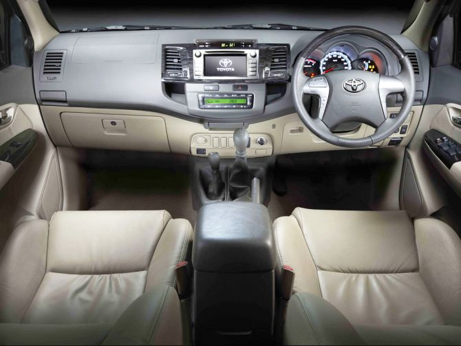 Toyota Fortuner interior.