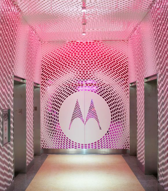 Motorola's new corporate headquarters at Chicago.