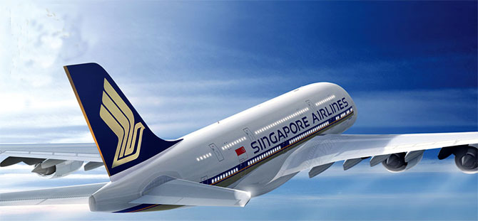 Singapore Airlines aircraft.