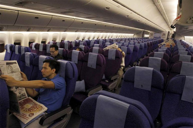 Economy Class of Singapore Airlines.