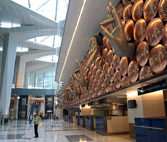 Delhi Indira Gandhi Int'l Airport.