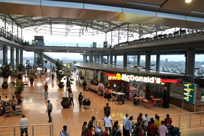 Hyderabad Rajiv Gandhi Int'l Airport.