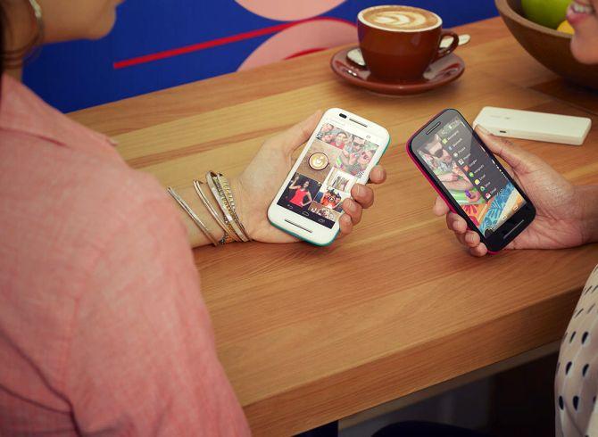 Moto E smartphone.
