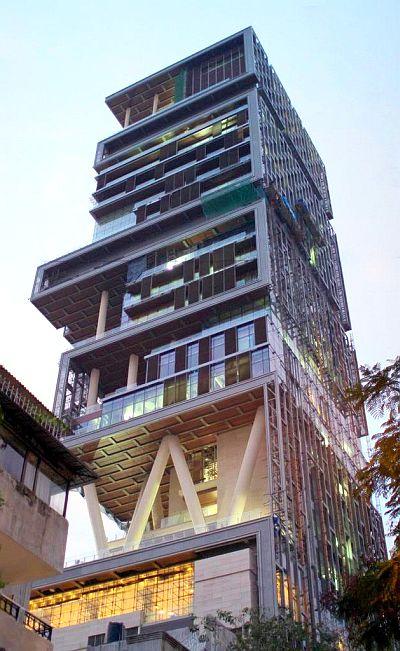 Mukesh Ambani's skyscraper residence Antilia.