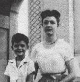Bette Nesmith Graham with her son
