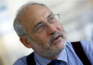 Image: Nobel Prize-winning economist Joseph Stiglitz praised India's economic performance. Photograph: Mike Segar/Reuters