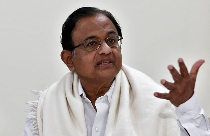 Finance Minister Palaniappan Chidambaram.