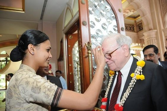 Warren Buffet  at The Leela Palace, Bangalore