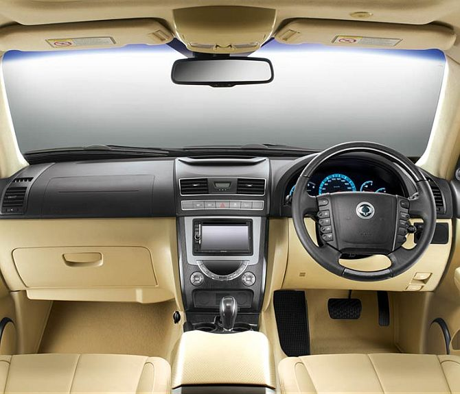Interiors of Rexton.