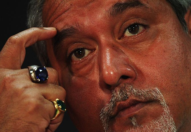 Vijay Mallya attends the press conference following practice for the Monaco Formula One Grand Prix.