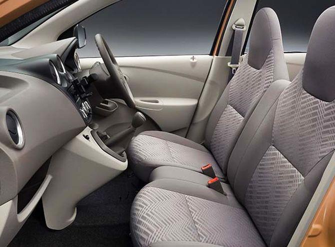Datsun Go+ interior.