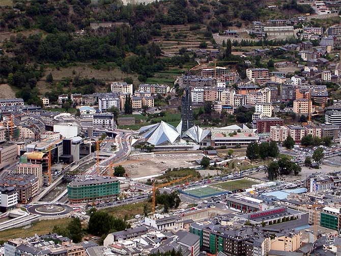 Skyline of Escaldes-Engordany parish.