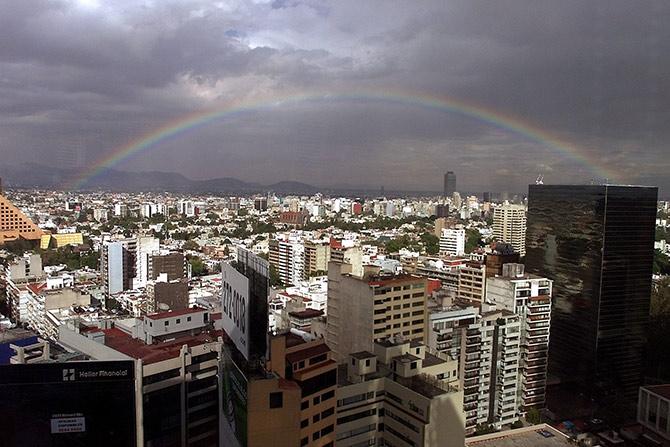 Mexico skyline.