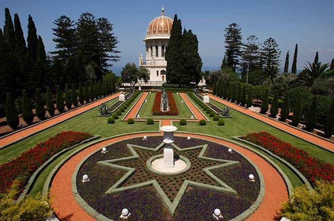 The Baha'i shrine is seen in the northern city of Haifa.