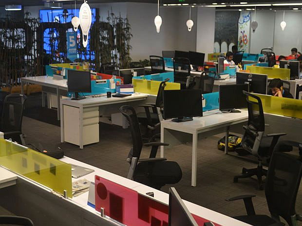 Lounge, play games and binge at the dhaba in InMobi\'s office ...