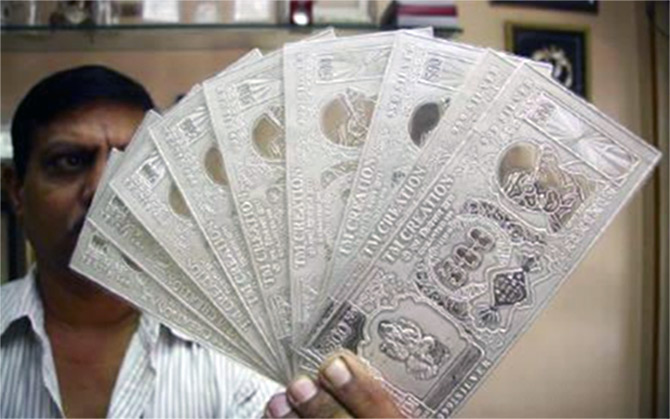 Continuing Downward Spiral For The Second Straight Session Silver Prices On Monday Tumbled By Rs 775 To Rs 45200 Per Kg At The Bullion Market