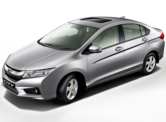 Grey Honda City. Photograph: Kind Courtesy, Honda