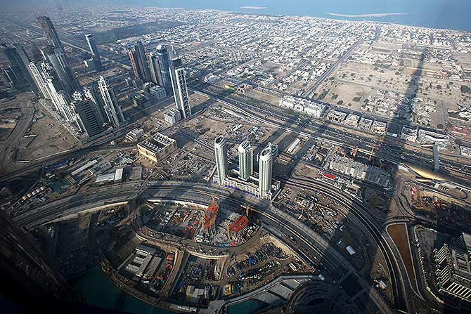 Burj Khalifa opens the world's highest observation deck ... Burj Khalifa From Top Floor