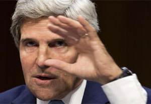 US Secretary of State John F Kerry. Photograph: Reuters
