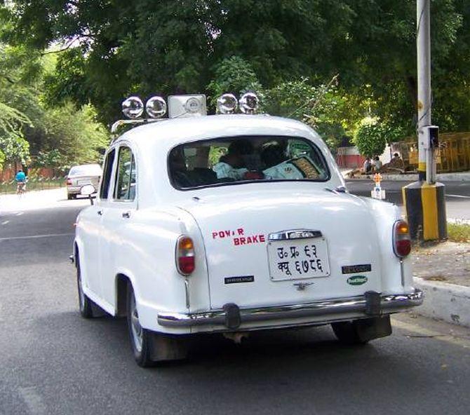 An Ambassador car