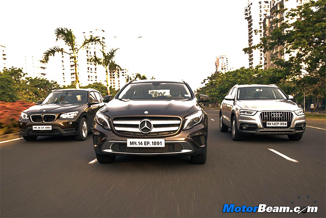Mercedes GLA Vs BMW X Vs Audi Q And The Best SUV Is Rediff - Bmw vs audi