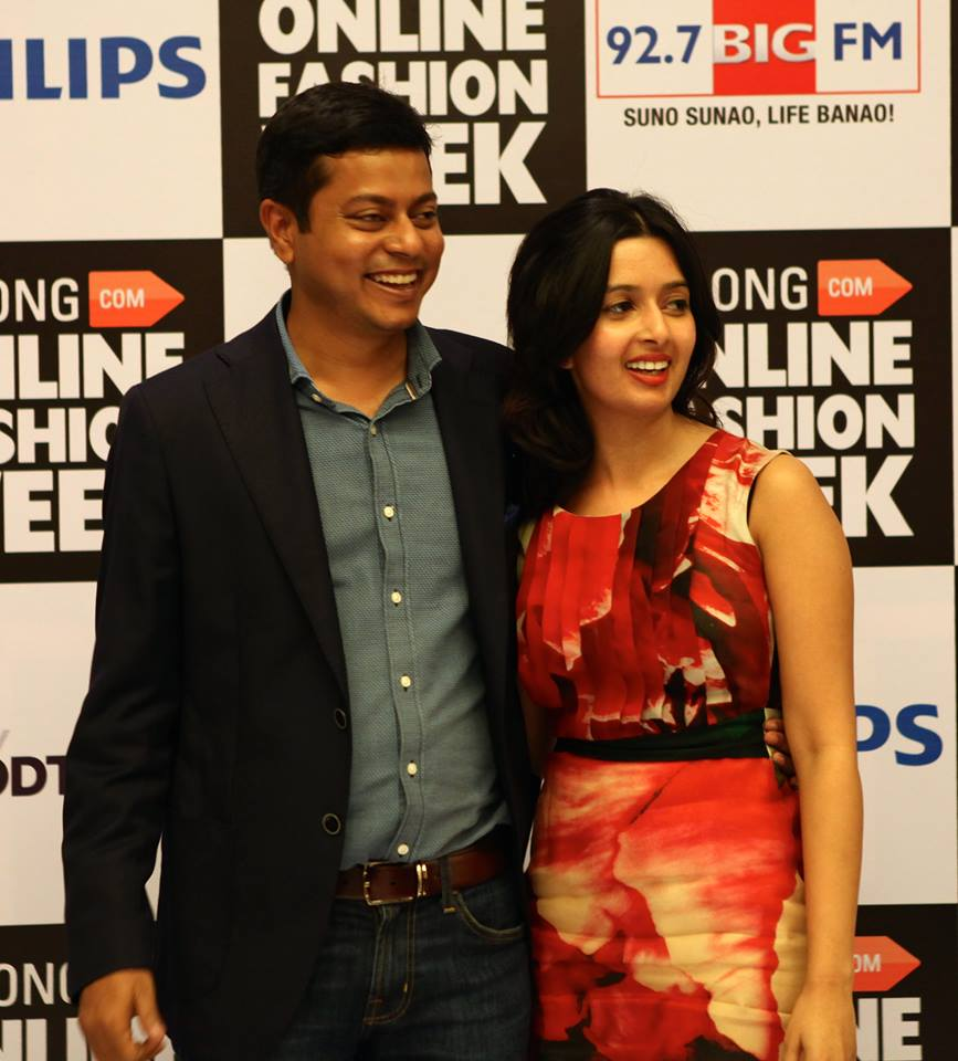 Praveen R Sinha with his wife Shayal Taunk