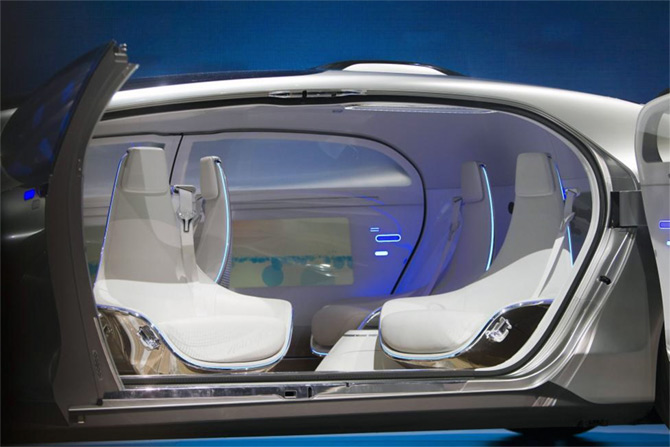 a self driving concept car that can turn into a living room business. Black Bedroom Furniture Sets. Home Design Ideas