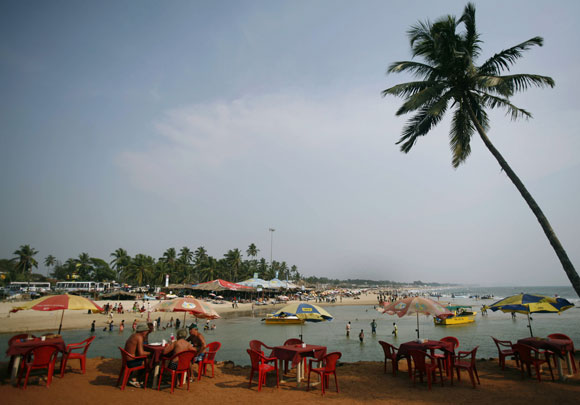 Baga beach of Goa