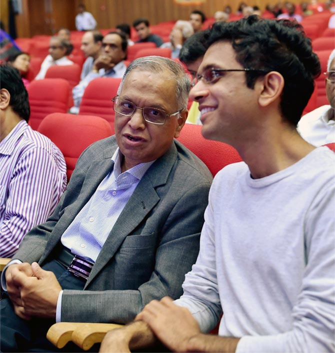 Rohan Murty with his father N R Narayana Murthy.