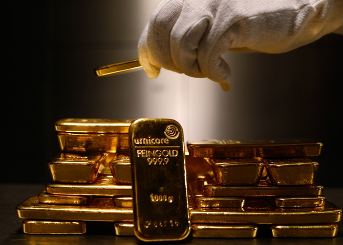 Image: Gold bars. Photograph: Reuters
