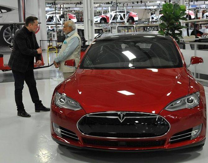 PM Narendra Modi at Tesla