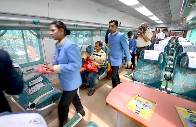 Passenger amenities have been bettered in new trains