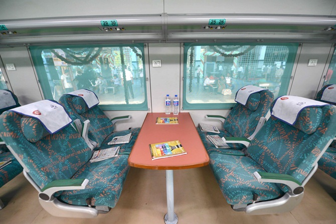 Gatiman Express: India's fastest train hits the track ... Shatabdi Express Executive Class