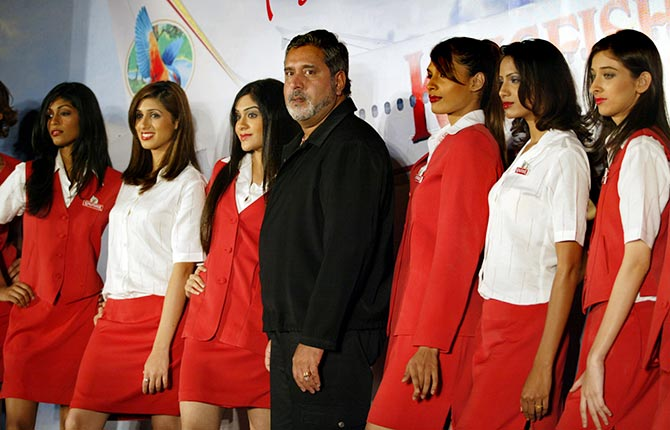 Vijay Mallya at the launch of Kingfisher Airlines in Mumbai, July 28, 2004.