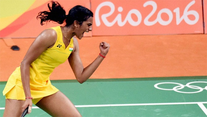 Rediff Sports - Cricket, Indian hockey, Tennis, Football, Chess, Golf - Sindhu achieves career-best rank of 7, Saina back in top 10