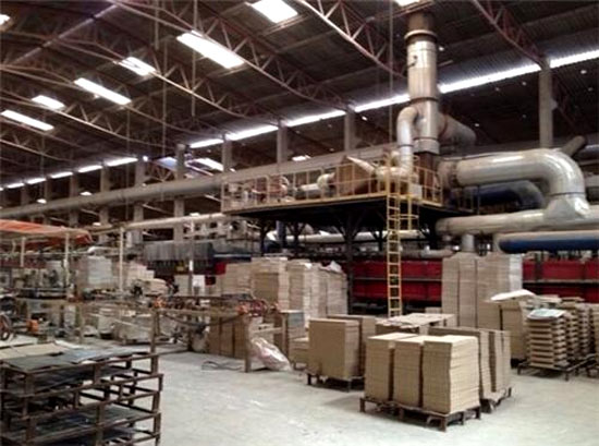 A tile factory at Morbi